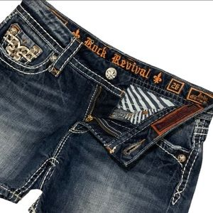 Rock Revival Julie Mid Rise denim shorts 26